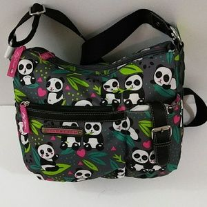Lily Bloom Panda Pop Hobo Crossbody Bag